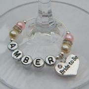 Bride To Be Personalised Wine Glass Charm - Elegance Style